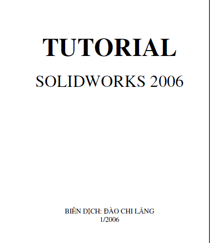 Tutorials SolidWorks 2006